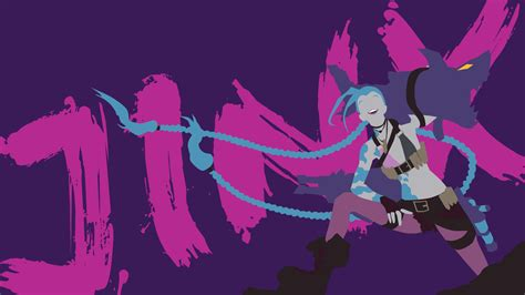 jinx minimalistic fan league of legends wallpapers