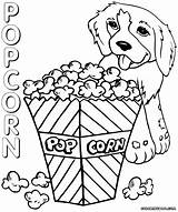 Popcorn Coloring Pages Box Popcorn2 Printable Colouring Sheet Template Duathlongijon sketch template