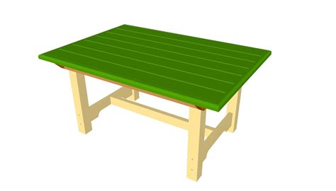 wooden table plans  diy  plans coop shed playhouse