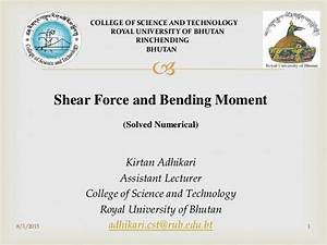Shear Force And Bending Moment Solved Numerical