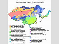 FileEast Asia map of Köppen climate classificationsvg