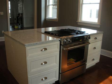 kitchen island range downdraft drop in stove in island renovating a historic