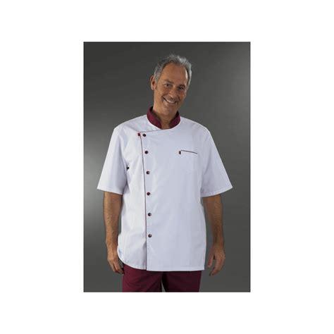 tenu cuisine veste cuisine blanche et manches courtes mzmc05