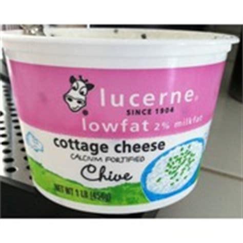 lucerne cottage cheese lucerne cottage cheese lowfat 2 milkfat chive calories
