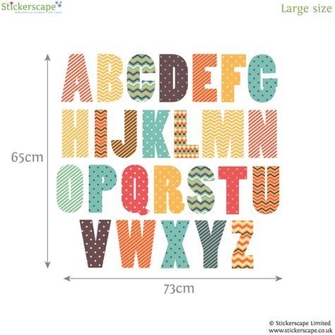 retro alphabet wall sticker alphabet wall stickers