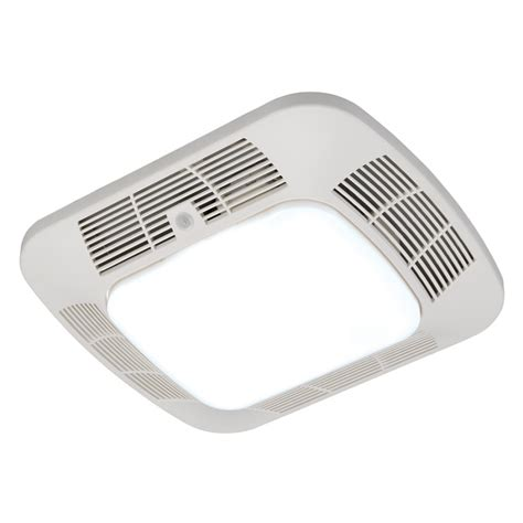 Shower Fan Light by Shop Harbor Breeze 1 2 Sone 110 Cfm White Bathroom Fan