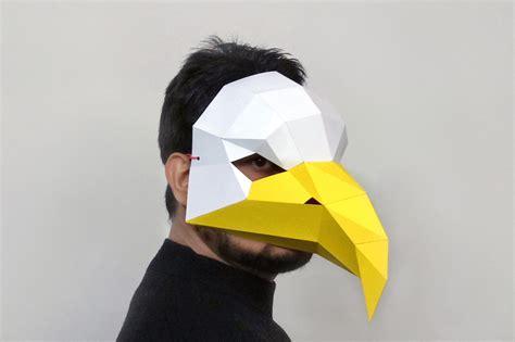 diy eagle maskparty masklowpolyd  paperamaze  zibbet