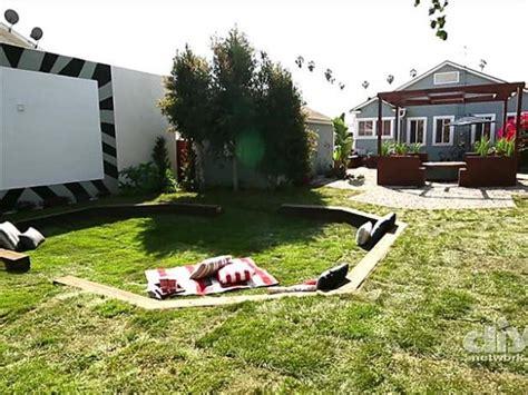 diy backyard sunken seating video diy