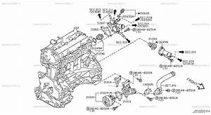 2000 Nissan Frontier Thermostat Location