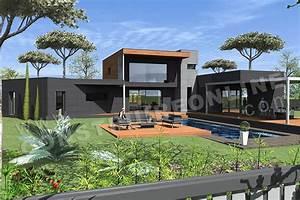 Maison Architecte Plan : plan de maison contemporaine allure ~ Dode.kayakingforconservation.com Idées de Décoration
