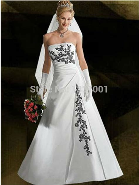 aliexpress buy new plus size wedding dress black and white bridal gowns 2016 new