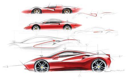 ferrari logo sketch ferrari 488 gtb eredita scultorea auto design