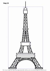 Learn How To Draw An Eiffel Tower Wonders Of The World