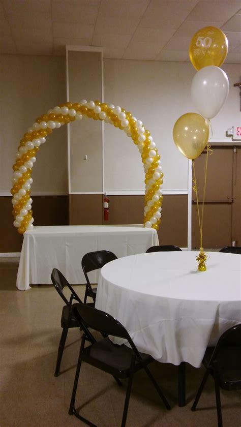 anniversary table arch party rentals pjs rentals