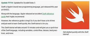 Free Swift Tutorials For Apple U0026 39 S New Programming Language