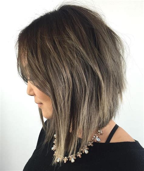 layered angled bob haircut 20 inspiring layered bob layered lob hairstyles