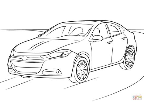 dodge dart coloring page  printable coloring pages