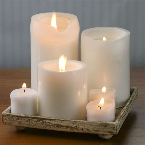 ivory  gold clay pillar candle holder candles