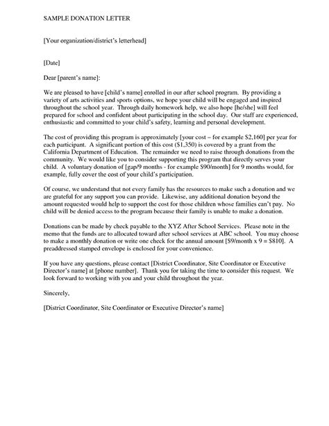 business donation letter tips writing  sample donation