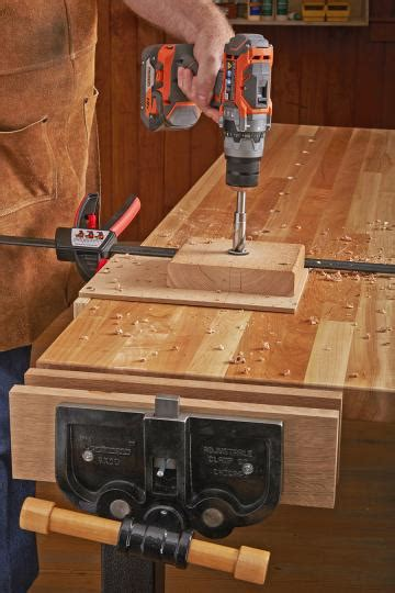 bench dog hole drill bushing wood magazine