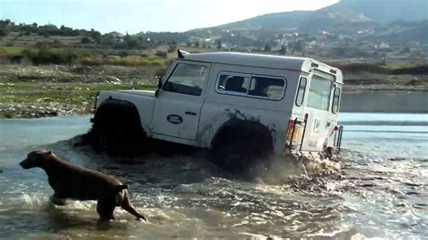 land rover water land rover defender in water youtube