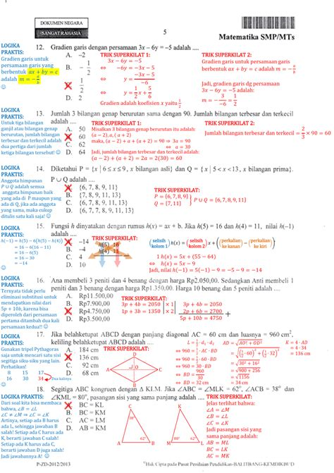 Kerjakanlah soal di bawah ini! Berbagi dan Belajar: Contoh Pembahasan Soal UN Matematika ...