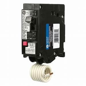 Ge Q-line 15 Amp Single-pole Dual Function Arc Fault  Gfci Breaker-thql1115dfp