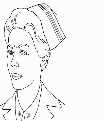 Coloring Nurse Pages Doctor Job