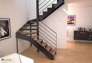 Escalier 3 4 Tournant : limons tokyo pour escalier demi tournant en acier ~ Dailycaller-alerts.com Idées de Décoration