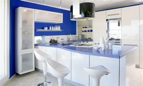blue kitchen storage inspiring blue kitchen d 233 cor ideas homesfeed 1740