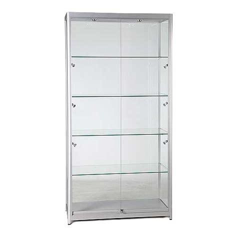 shop display cabinet flat pack 8 lights lock size