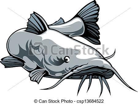 nice catfish nice illustrated catfish isolated  white