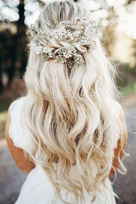 half up half down wedding hairstyles 33 inspirational