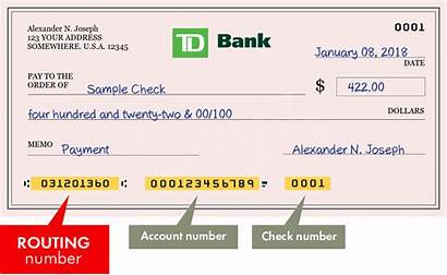 Td Bank America Number Account Routing Numbers