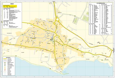 street map  famagusta map   famagusta district