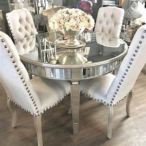 Bellamy Round Mirrored Dining Table