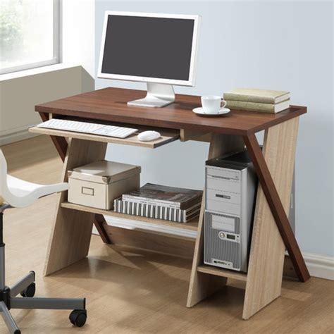 baxton studio 43 in astoria brown desk and chair set