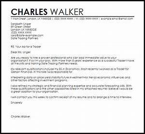 Professional Cover Letter Examples Trader Cover Letter Sample Cover Letter Templates Examples