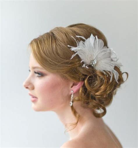 bridal fascinator wedding hair accessory feather head