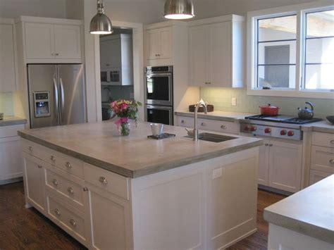 kitchen counter islands 17 best ideas about concrete kitchen countertops on