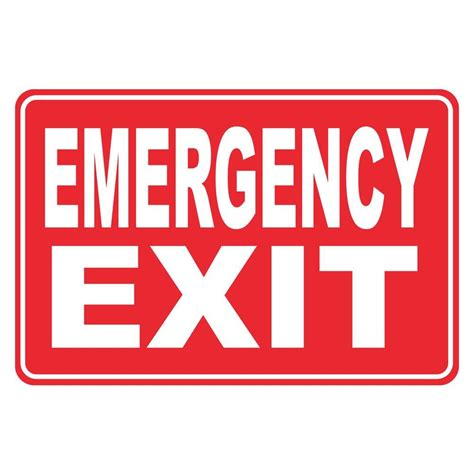 rectangular plastic emergency exit sign pse