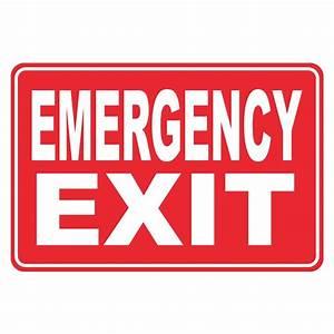 Rectangular Plastic Emergency Exit Sign-PSE-0090 - The