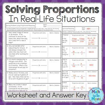 proportions word problem worksheet freebie  images