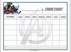 Free Chore Chart Avengers Templates at