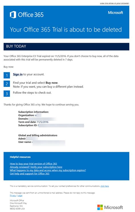 Office 365 Portal Email by Out For This Office 365 Phishing Email