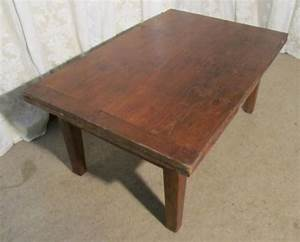 large french rustic farmhouse extending pine coffee table With large farmhouse coffee table