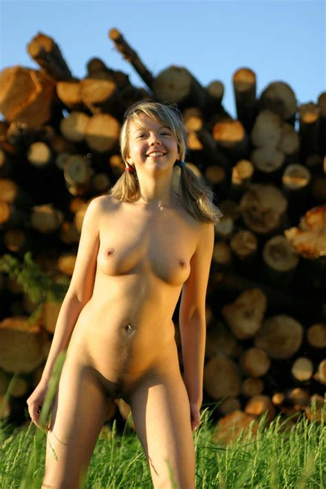 Sexy Teen Alena T By The Logs — Russian Sexy Girls
