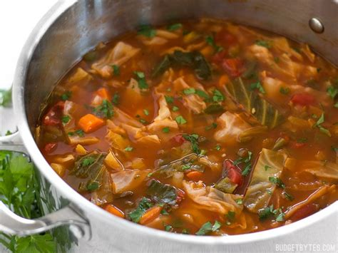 canbage soup quot all you can eat quot cabbage soup budget bytes
