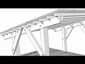 plan d39abri voiture youtube With plan garage bois gratuit