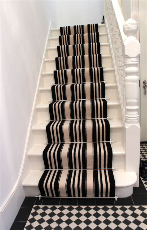Funky Carpets For Stairs by Black And White Striped Stair Carpet 3
